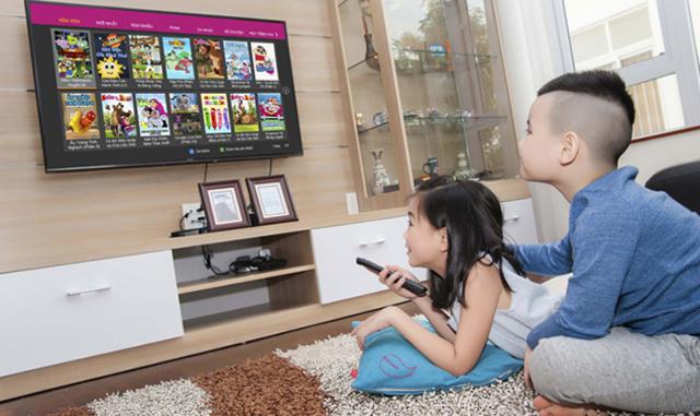 Tính năng giám sát trẻ em, hạn chế về nội dung khi trẻ xem tivi